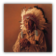 "JAMES BAMA LIMITED EDITION PRINT "" OLD ARAPAHO STORYTELLER """