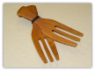 TREENWARE HANGING HANDS - CHERRY OR WALNUT