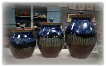"RAY POTTERY "" THREE CANISTERS SET """
