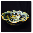 "RAY POTTERY "" SCALLOPED SALAD BOWL "" BLUE, MEDIUM"
