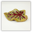 "RAY POTTERY "" LEAF SPOON REST """