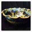"RAY POTTERY "" SCALLOPED SALAD BOWL "" BLUE, LARGE"