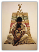 "JAMES BAMA LIMITED EDITION PRINT "" SOUTHWEST INDIAN FATHER AND SON """