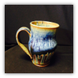 "RAY POTTERY "" MUG "" BLUE"