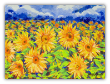 "LARRY SMITH  ""SUNFLOWER FIELD""  ORIGINAL OIL ON CANVAS"