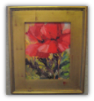 """TWO BY TWO"" POPPY STUDY BY V. VAUGHAN FRAMED"