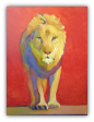 "BOB RANSLEY "" LION ON RED """