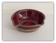 RAY POTTERY RED DIPPING BOWL