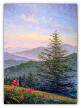 "JEFF PITTMAN "" GRAY'S LILLIES - ROAN MOUNTAIN "" ORIGINAL OIL ON CANVAS"
