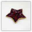 """ RAY POTTERY RED STAR SPOON REST """