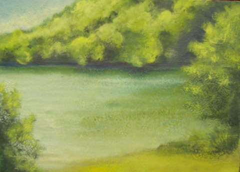 Heidi mayfield landscape v original encaustic wax for Wax landscape