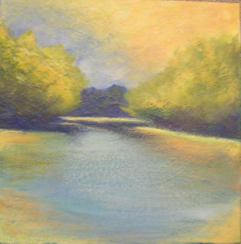 Heidi mayfield landscape i original encaustic wax for Wax landscape